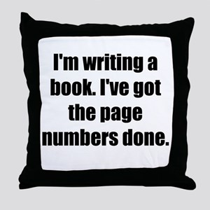 Writing a Book Throw Pillow