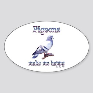 Pigeon Sticker (Oval)