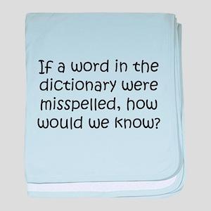 Misspelled word in Dictionary baby blanket