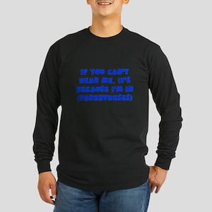 Parenthesis - Writing Long Sleeve Dark T-Shirt