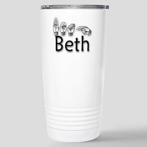Beth-blk Stainless Steel Travel Mug