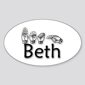 Beth-blk Sticker (Oval)