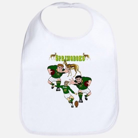 Springboks Rugby Baby Bib