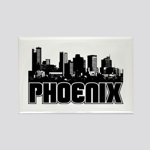 Phoenix Skyline Rectangle Magnet