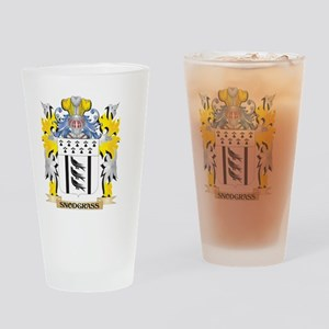 Snodgrass Family Crest - Coat of Ar Drinking Glass