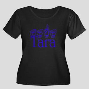 Tara Women's Plus Size Scoop Neck Dark T-Shirt