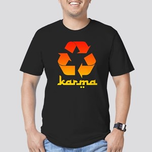 Recycle KARMA Men's Fitted T-Shirt (dark)