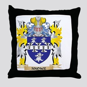 Snowe Family Crest - Coat of Arms Throw Pillow
