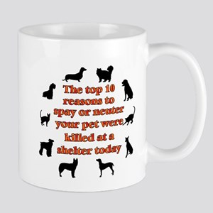 The top 10 reasons to spay or Mug
