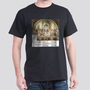 School of Athens Who is Who Dark T-Shirt
