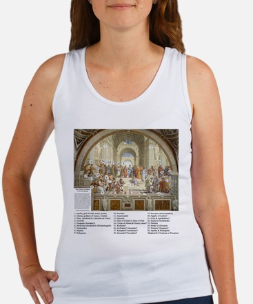 School of Athens Who is Who Women's Tank Top