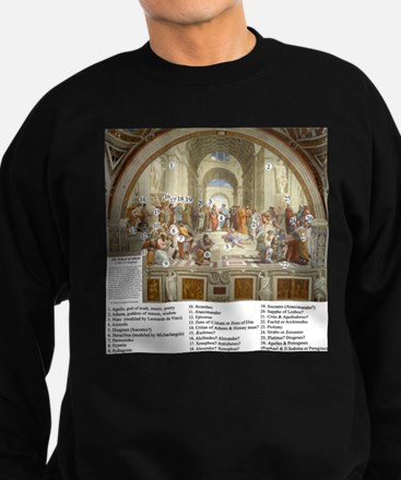 School of Athens Who is Who Sweatshirt (dark)