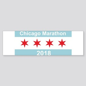 2018 Chicago Marathon Sticker (Bumper)