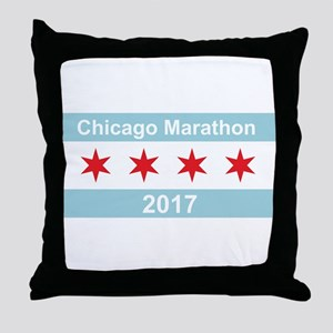 2017 Chicago Marathon Throw Pillow