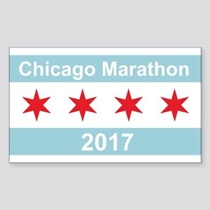 2017 Chicago Marathon Sticker (Rectangle)