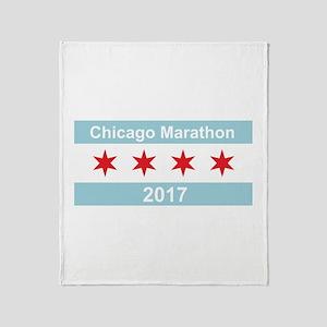 2017 Chicago Marathon Throw Blanket