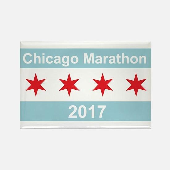 2017 Chicago Marathon Rectangle Magnet