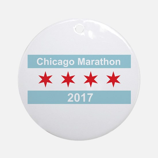 2017 Chicago Marathon Ornament (Round)
