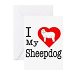 I Love My Bearded Collie Greeting Cards (Pk of 20)