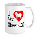 I Love My Bearded Collie Large Mug