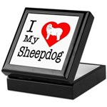 I Love My Bearded Collie Keepsake Box