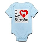 I Love My Bearded Collie Infant Bodysuit