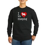 I Love My Bearded Collie Long Sleeve Dark T-Shirt