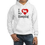 I Love My Bearded Collie Hooded Sweatshirt