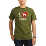 I Love My Bearded Collie Organic Men's T-Shirt (da