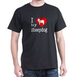 I Love My Bearded Collie Dark T-Shirt