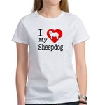 I Love My Bearded Collie Women's T-Shirt