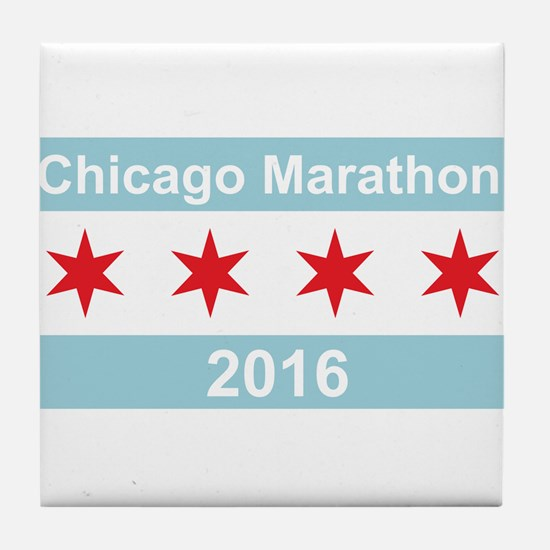 2016 Chicago Marathon Tile Coaster