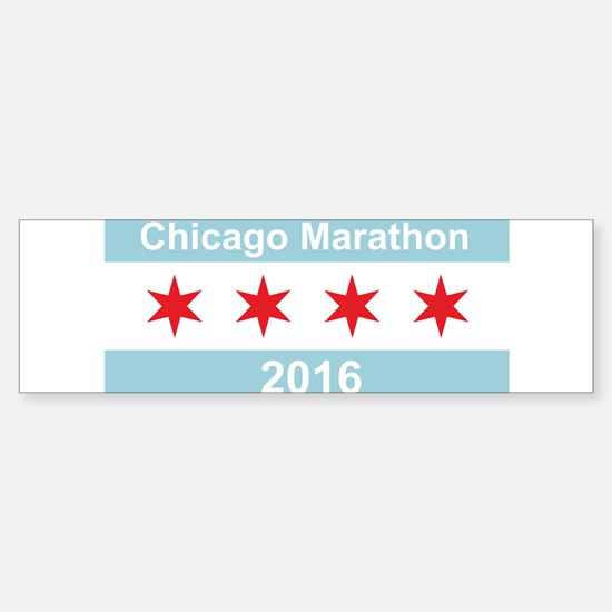 2016 Chicago Marathon Sticker (Bumper)