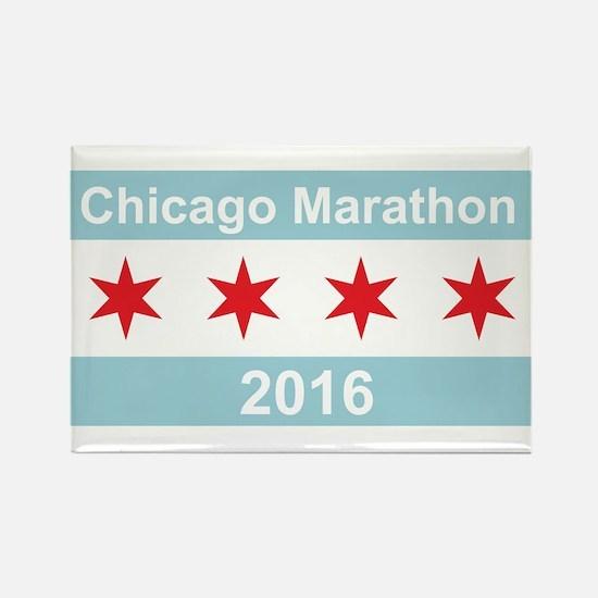 2016 Chicago Marathon Rectangle Magnet