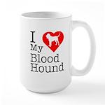 I Love My Bloodhound Large Mug