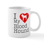 I Love My Bloodhound Mug