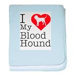 I Love My Bloodhound Infant Blanket