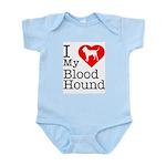 I Love My Bloodhound Infant Bodysuit