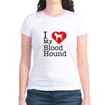 I Love My Bloodhound Jr. Ringer T-Shirt