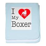 I Love My Boxer Infant Blanket