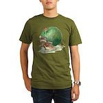 Christmas Mouse Organic Men's T-Shirt (dark)