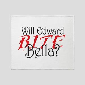 Will Edward Bite Bella? Throw Blanket