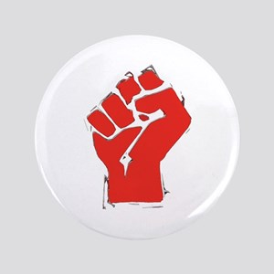 "Raised Fist 3.5"" Button"