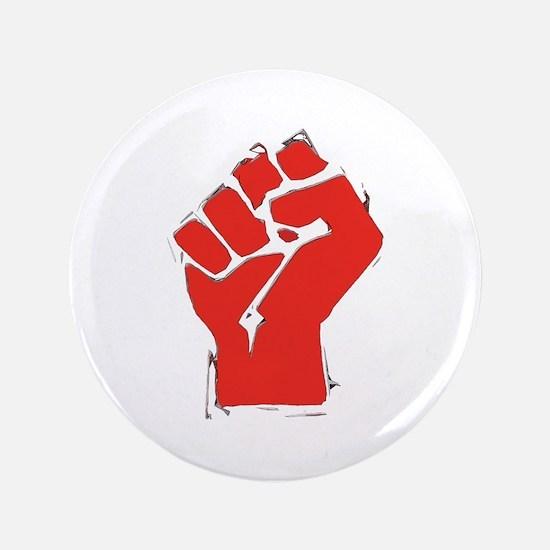 "Raised Fist 3.5"" Button"