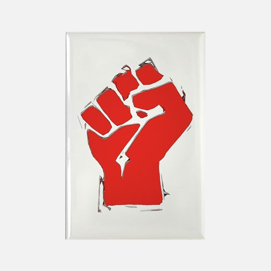 Raised Fist Rectangle Magnet (100 pack)
