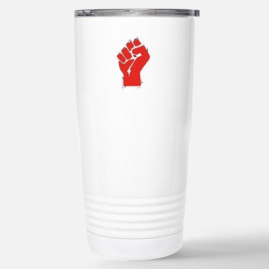 Raised Fist Stainless Steel Travel Mug