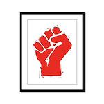 Raised Fist Framed Panel Print