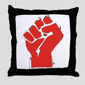 Raised Fist Throw Pillow