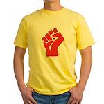 Raised Fist Yellow T-Shirt