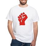 Raised Fist White T-Shirt